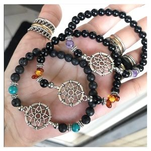 8 colors pick yours ! Dream catcher gem bracelet